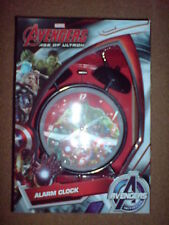 MARVEL COMICS AVENGERS 3D TWIN BELL ALARM CLOCK GIFT BOXED NEW