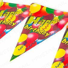 HAPPY BIRTHDAY BUNTING 3M Long Large Party Flags Celebration Wall Banner/Garland