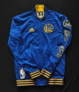 GOLDEN STATE WARRIORS Adidas Warmup NBA Jacket On-Court 15-16 Blue Mens S