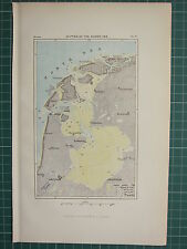 c1890 ANTIQUE MAP ~ DEPTHS OF THE ZUIDER-ZEE HOLLAND AMSTERDAM AMELAND HELDER