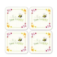 Cooksmart BEE HAPPY set of 4 coasters