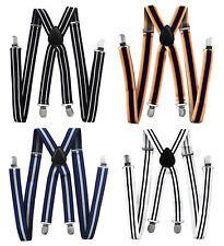 Axy Braces-X Form 1in Wide With Streifen-4 Clips Extra Strong-Unisex