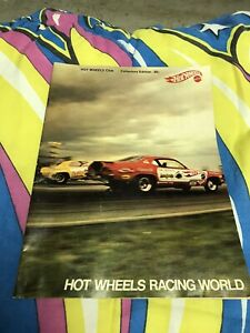 1970 Hot Wheels Club Hot Wheels Racing World Magazine With The Rare Iron On