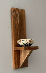 RUSTIC RECLAIMED PALLET WOOD WALL SCONCE / CANDLE HOLDER more available