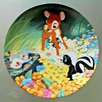 Walt Disney Bambi Collector's Plate By Knowles Title Bambi's New Friends # 8044A