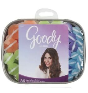 Goody Style Curl Finish Foam Rollers - 36ct Assorted Sizes