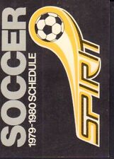 1979-80 Pittsburgh Spirit Soccer Schedule jhhp