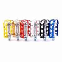 "MKS BM-7 1/2"" Old School BMX Road City Bike Pedal Black Silver Red Blue Copper"
