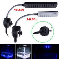 24/48 LED Aquarium Light Arm Clip On Plant Grow Fish Turtle Tank Lighting Lamp
