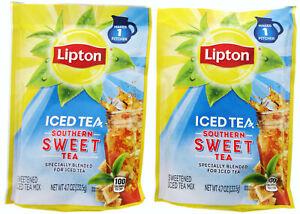 Lipton Southern Sweet Tea Mix ~ Makes 2 Quarts ~ Lot of 2