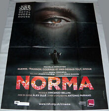 NORMA ROYAL OPERA HOUSE London Álex Olle Netrebko Calleja LARGE French POSTER