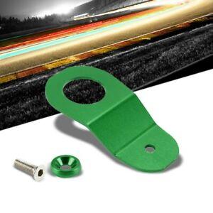 Green Aluminum Radiator Stay Mount Bracket+Fender Washer For Honda 96-00 Civic