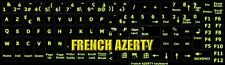 Touches Stickers FLUO autocollants AZERTY clavier Fluo complet Français