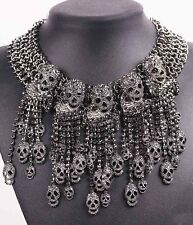 Woman collar Chain Necklace 972 Pendant Crystal Bib Statement charm chunky