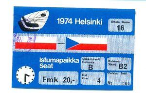 World Ice Hockey Championships Helsinki 1974 ticket POLAND CZECHOSLOVAKIA