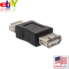 USB 2.0 Type A Female to USB 2.0 Female Coupler Connector Extension Adapter NEW!