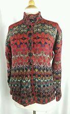 Women's INTIWARA Alpaca Cardigan Sweater Multicolor Beautiful sz XL EUC Q363