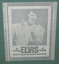 Elvis Presley In Person Printers Art Block Negative RCA Original 1970 RARE