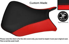 RED AND BLACK AUTOMOTIVE VINYL CUSTOM FITS BMW S 1000 RR 12-13 FRONT SEAT COVER