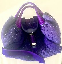 FENDI RARE Authentic Couture Spy Bag Purple Tulle Vintage 2005 Auth No. AA00182