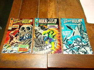 Tales to Astonish #96 #97 #98 - Marvel 1967 Silver Age Stan Lee Hulk Sub-Mariner