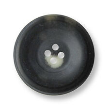 5 sehr große schwarz braun melierte Knöpfe in Horn Optik (4383ws-34)