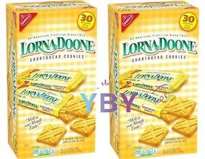 2 Packs Lorna Doone Shortbread Cookies (6 per pk., 30 pk.) 45 oz Each Pack