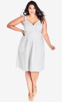 Chic City Plus Size L/20W, XXL/24W Dress Woman Innocent Dress - White NEW $99