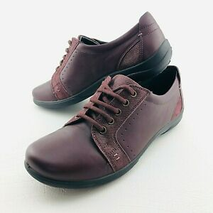Padders Womens Leather Shoes 42 Sonnet Leather Dual Fit System Wide Comfort Red