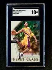 2000-01 UD SP Authentic First Class #FC7 Kobe Bryant Insert SGC 10