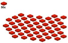 Used LEGO® - Smooth Parts - Red - 3070b-01 - 1x1 (50Stk) - Fliese - Rot