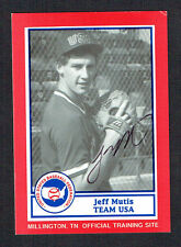 Jeff Mutis #16 signed autograph auto 1990 US Federation Team USA Card