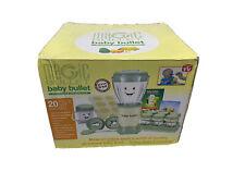 Baby Bullet Food Blender Processor System 20 Piece Set! - Green