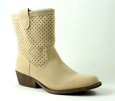 Rampage Women's Weatherly Ankle Boots Tan Faux Suede Size 7.5 M