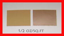 "COPPER FOIL ½ oz/sf  6.5""x9""  0.0007"" thickness 1 sheet"