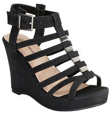 NEW Women High Heel Gladiator Strappy Wedge Platform Party Sandal Open Toe Shoes