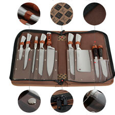 9 Pocket Chef Knife Roll Bag Knife Carry Case Cleaver Case Chef School Wallet