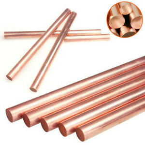 99.9% Pure Copper Round Rod Bar Metal Length 100mm 150mm 250mm Dia 3mm ~ 10mm