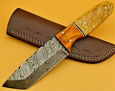 Jagdmesser-Damastmesser-Outdoormesser-Full Tang-Skinner-Tanto-Holzgriff- (AB004)