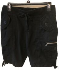 Almost Famous Cargo Shorts Black Size Medium Light Weight
