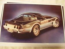 1978 CHEVROLET CORVETTE INDY PACE CAR  11 X 17  PHOTO /  PICTURE