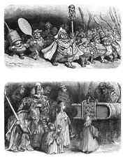 Gustave Dore gigantón Pantagruel 140 A4 Foto impresión