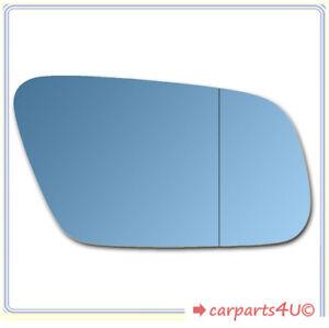 Spiegelglas zum Kleben für AUDI A8 05/1999-2002 rechts asphärisch blau