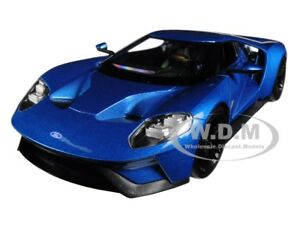 2017 FORD GT BLUE 1/24-1/27 DIECAST MODEL CAR BY WELLY 24082