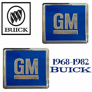 68-82 Door GM Decal BLUE 3M ALL Buick Vehicles PAIR Reproduction Sold in a Pair