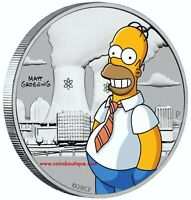HOMER SIMPSON 1/2 oz Silver Coin in Card Tuvalu 2020