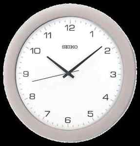 *BRAND NEW* Seiko Modern Silver Metallic Finish Case Wall Clock QXA137SLH