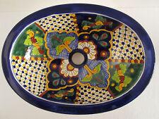 "16"" TALAVERA SINK drop in mexican bathroom sink handmade ceramic mexico folk art"