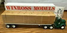 Winross White Lombard Bros Tractor/Flatbed Trailer 1/64
