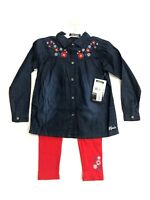 NWT Kensie Girls 2 piece outfit, Leggings and Cotton Denim top, sz 4-6X